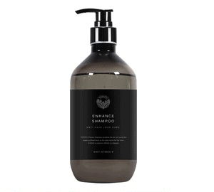 A bottle of shampoo with 500ml or 16.5 oz
