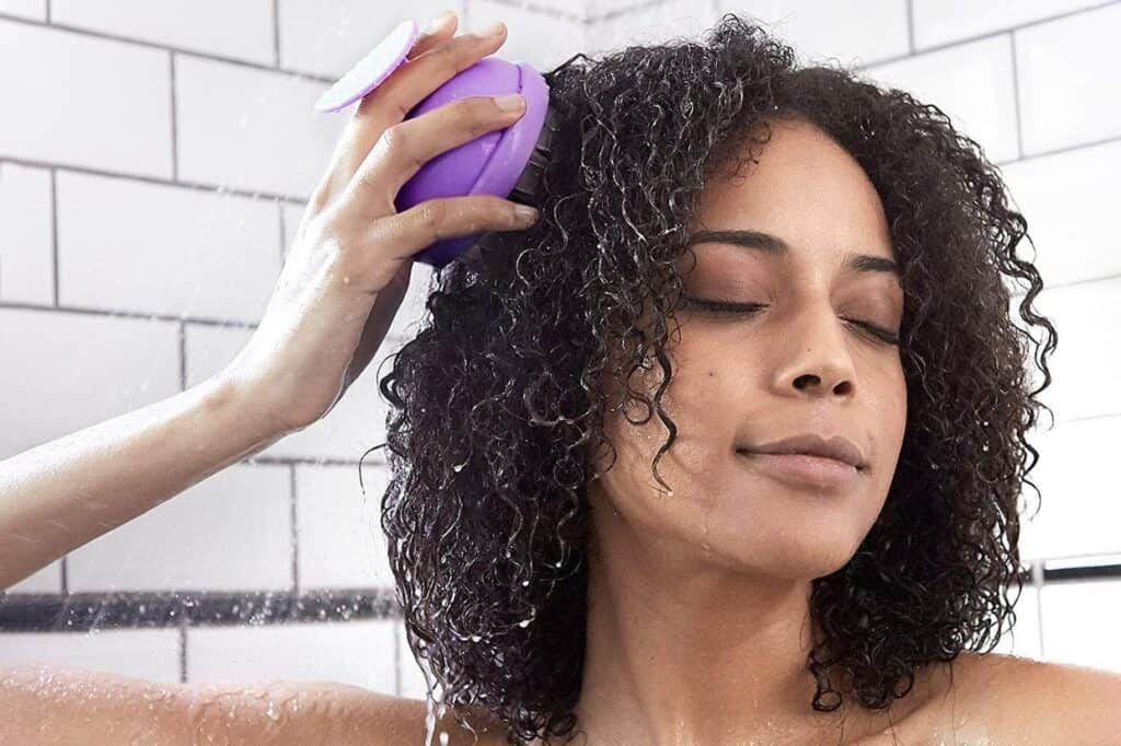 Detangling your hair fully before shampooing