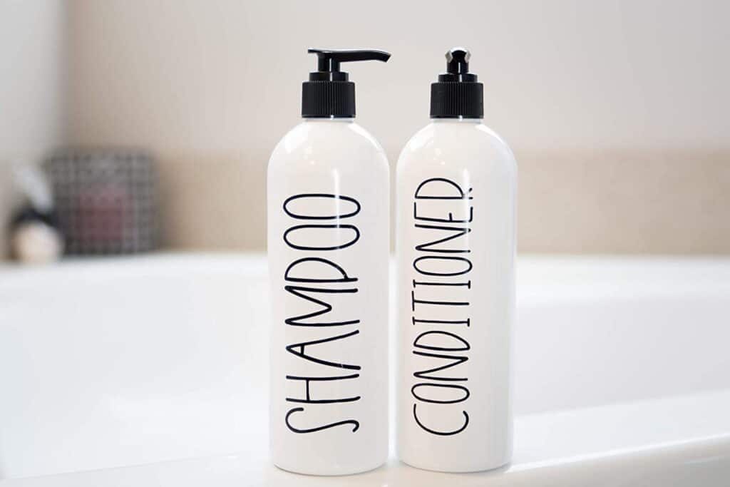 Each shampoo bottle size has a different weight.
