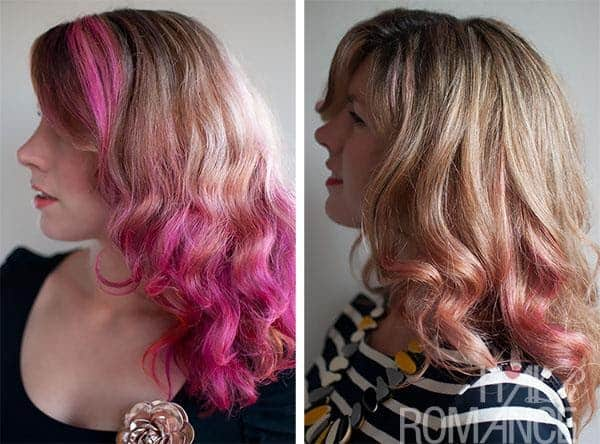 Pink hair can last anywhere from 1-6 weeks