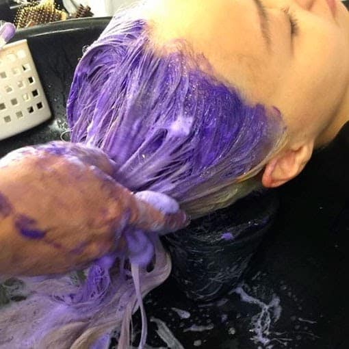 The pigments on purple dye are very different from those in purple shampoo