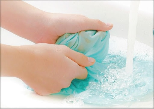 Massage Soapy Water Into The Fibers