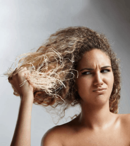 Lack of moisture in hair