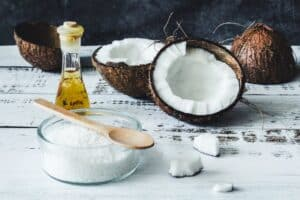 Use coconut oil and salt to fix orange hair